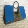 Pink Blue Authentic Dashiki Large Hard Body Hand Bag