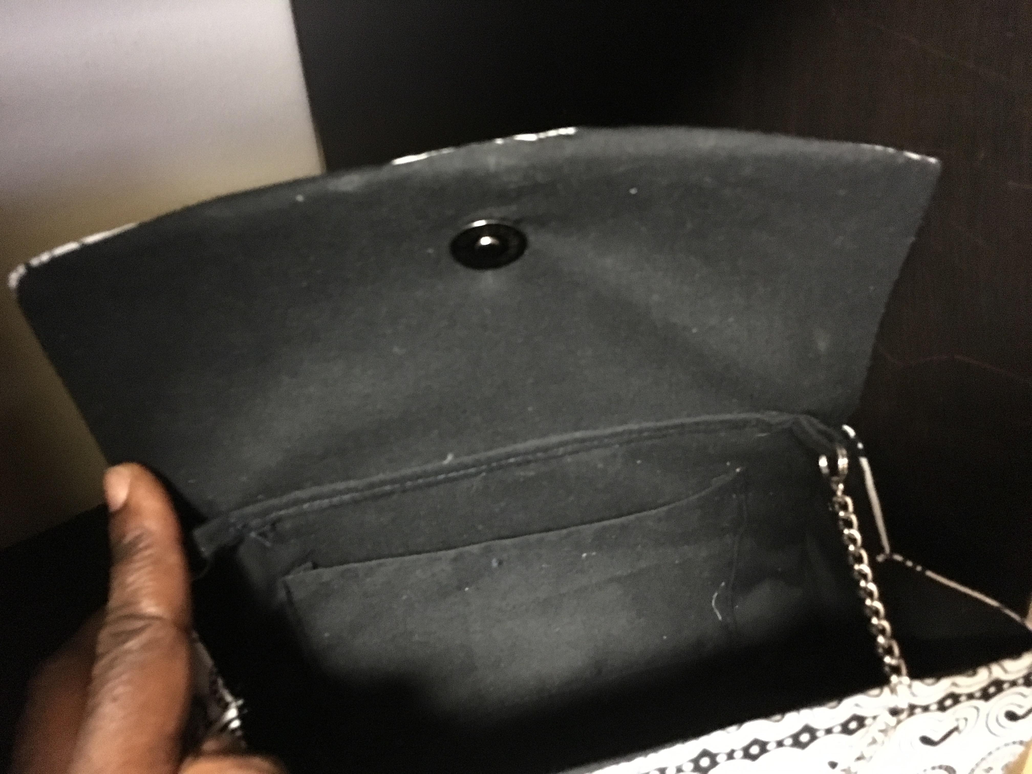 c26c22ba52 Black White African Ankara Clutch Purse Plus Chain Handle