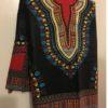 Black and red Dashiki Fabric