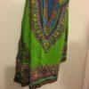 Grren and blue dashiki fabric