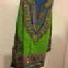 Green and blue dashiki fabric