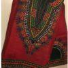 Red and green dashiki fabric
