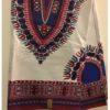 white and blue dashiki fabric