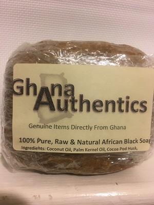 Natural African Black Soap 8oz